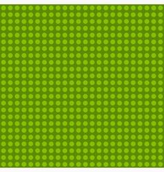 Seamless green polka dot patternn vector