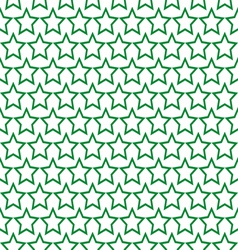seamless green star pattern background vector image vector image