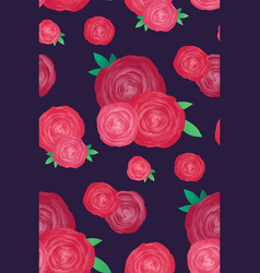 Seamless texture with roses on a dark background vector
