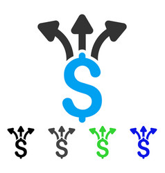 Share money flat icon vector