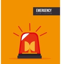 Siren alarm emergency equipment vector