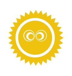 sun summer comic character vector image vector image