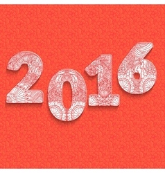 The inscription of the numbers for 2016 design vector image