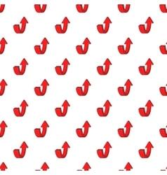 Up arrow pattern cartoon style vector
