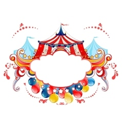 Circus tent frame vector