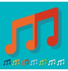 Flat design musical note vector