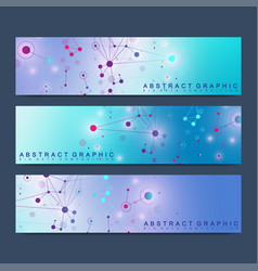 modern scientific set of banners geometric vector image