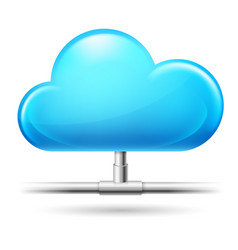 cloud computing on white background for design vector image