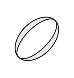 Rugby ball icon on white background vector