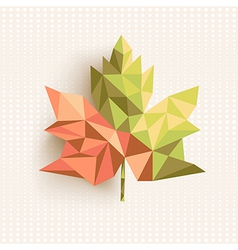 Fall season triangle leaf composition concept vector