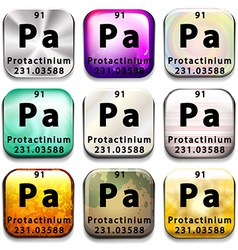 A periodic table button showing the protactinium vector
