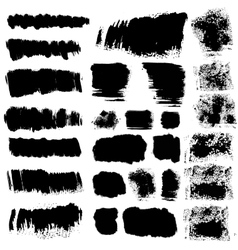 Ink brush stains set vector