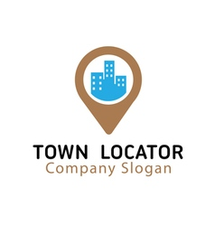 Town locator design vector