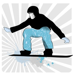 Collection of snowboard skiers vector