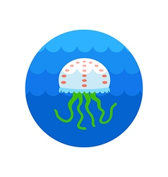 Jellyfish icon summer vacation vector