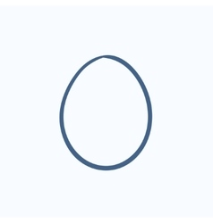 Egg sketch icon vector