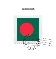 Bangladesh flag postage stamp vector
