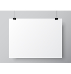 Blank White Poster Template vector image vector image