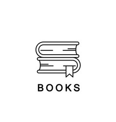 Books linear icon or logo line vector