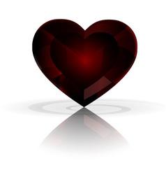 dark heart crystal vector image vector image