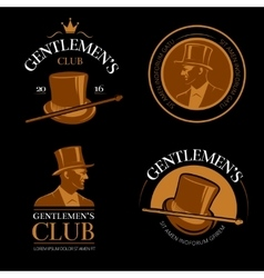 Elite mens club vintage labels vector