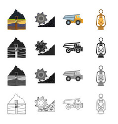 Equipment useful fossil and other web icon in vector