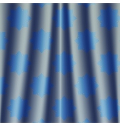fabric deep blue metallic colored night curtain vector image