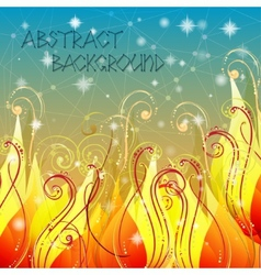 Fairy tale elegant abstract background in with vector