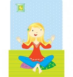 girl meditation vector image
