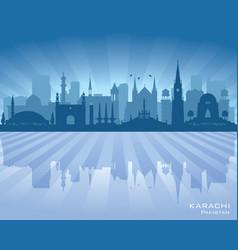 Karachi pakistan city skyline silhouette vector