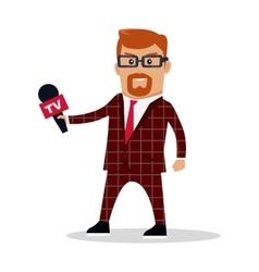 Media Worker Character vector image