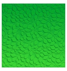 Natural pattern with green leaves vector image vector image