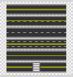 roads seamless background vector image