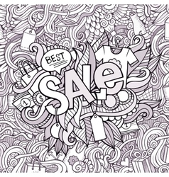 Sale hand lettering and doodles elements vector image vector image