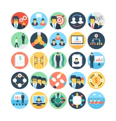 Team work and organization icons 3 vector
