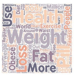 The Double O Of Poor Health text background vector image vector image