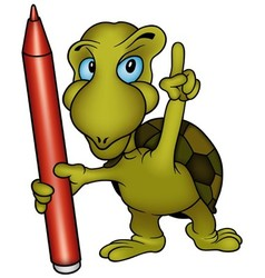 Turtle painter vector