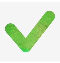 Watercolor or aquarelle check or agree sign vector image