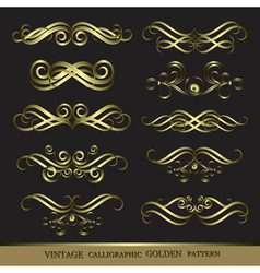 Calligraphic patterns vector