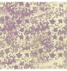 Seamless floral grunge background vector