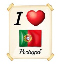 I love Portugal vector image