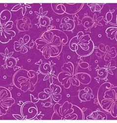 Purple Nature Swirls Seamless Pattern vector image