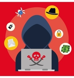 Digital fraud and hacking design vector