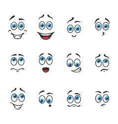Blue eyes in emotions vector image