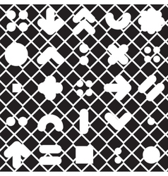 Seamless pattern geometric shapes vector