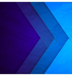 Abstract blue paper crossing rectangle shapes vector image