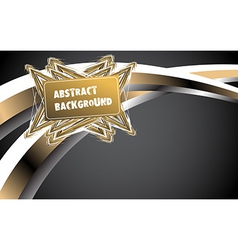 Abstract gold background vector image