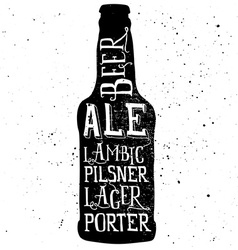 Beer poster Print for T-shirts Hand lettering vector image