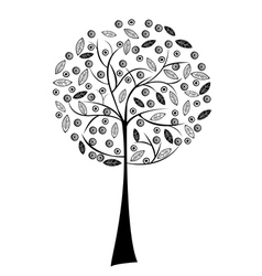 black stylized tree vector image