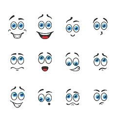 Blue eyes in emotions vector